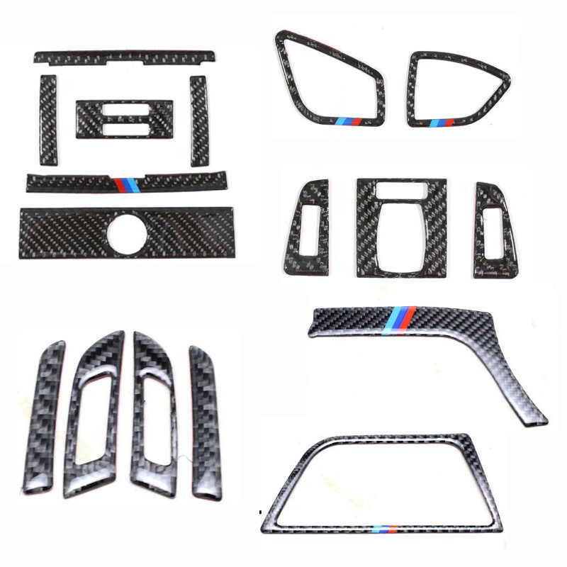 Para BMW 3 4 Series 3GT F30 F31 F32 F34 fibra de carbono coche salida de aire acondicionado cubierta del marco de ventilación ajuste interior del coche pegatinas