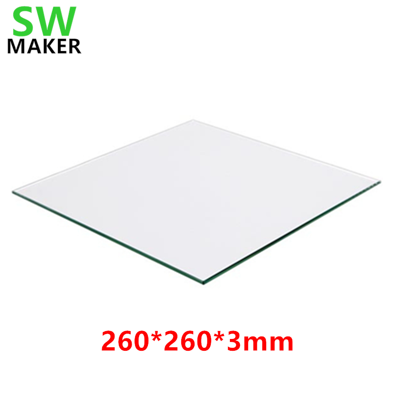 3mm Thick Square Clear Borosilicate Glass Build Plate Heat Bed for 3D Printers