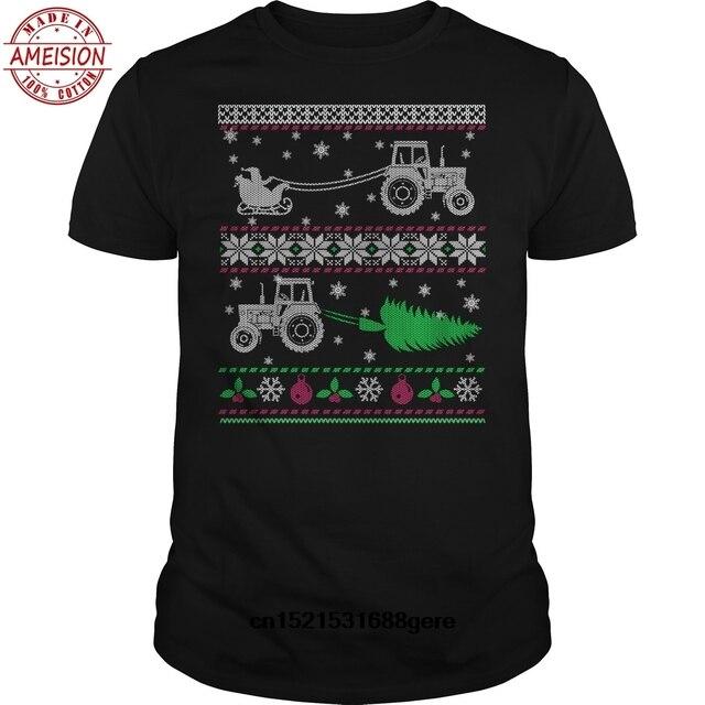 Baru Fashion Lucu T Shirt Pertanian _ Traktor Petani Jelek Natal Sweater Xmas T-shirt Hip Hop Tshirt Atasan TEE SHIRT