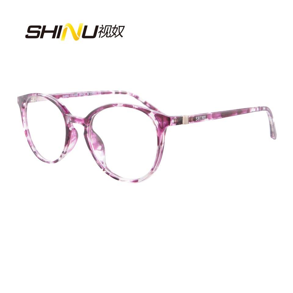 c58fdf397949 SHINU Brand Glasses Frame Women Fashion Eyewear Ultralight Spectacle Frame  Full Rim Optical Eyeglasses Frames Spectacles