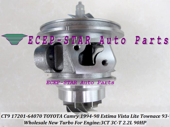 Free Ship Turbo Cartridge CHRA Core CT9 17201-64070 17201 64070 For <font><b>TOYOTA</b></font> Camry Estima Lite TownAce Vista <font><b>3CT</b></font> 3C-T 3C 2.2L 90HP image