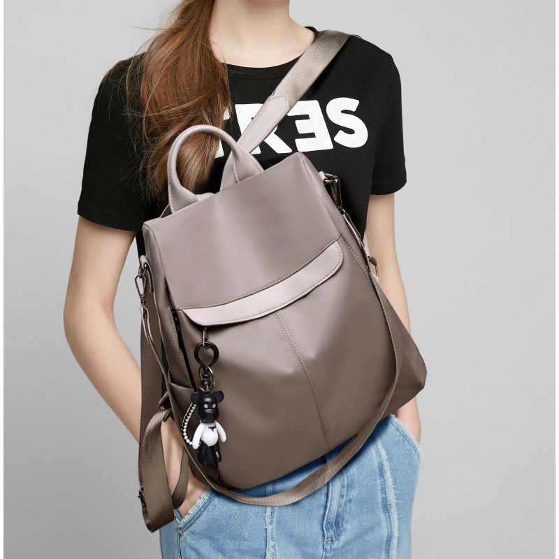 LANYIBAIGE рюкзак женский 2019 Новый женский рюкзак Противоугонный ДИЗАЙН Оксфорд рюкзаки школьные сумки для девочек-подростков цвета хаки