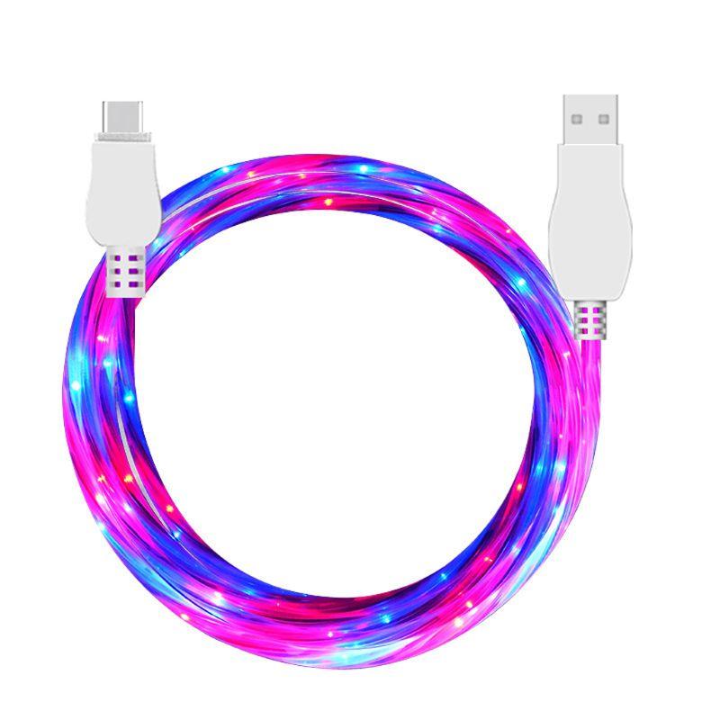 Temperamentvoll Led Bunte Licht Usb 3.1 Typ C Daten Kabel Für Samsung Galaxy S9 S8 Xiaomi 5/6/8 Huawei P9/p10/p20 Mate 10/20 Oneplus 3/5/6 Phantasie Farben