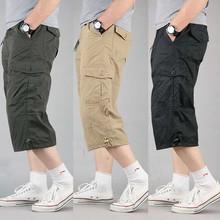 Sommer Kurze für Männer Plus Größe Cargo Shorts Casual Baumwolle Strand Board Shorts mit Multi Tasche Lose Baggy Jogger Kleidung