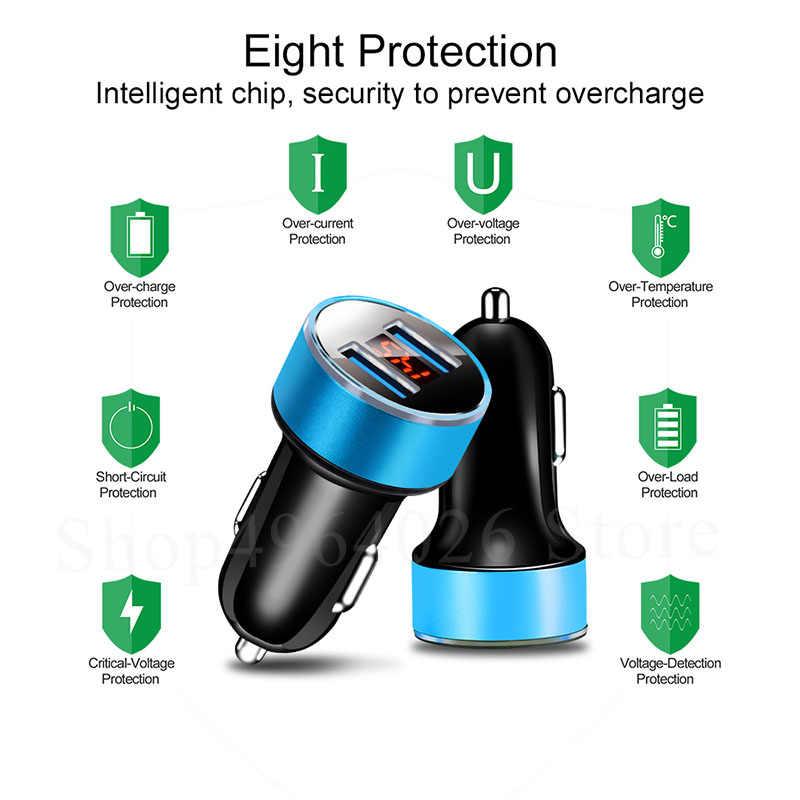 Wyświetlacz LED 3.1A 5 V podwójna ładowarka samochodowa USB ładowarka do telefonu dla Citroen C4 Aircross C1 C2 C3 C4L C5 c6 c crosser c elysee