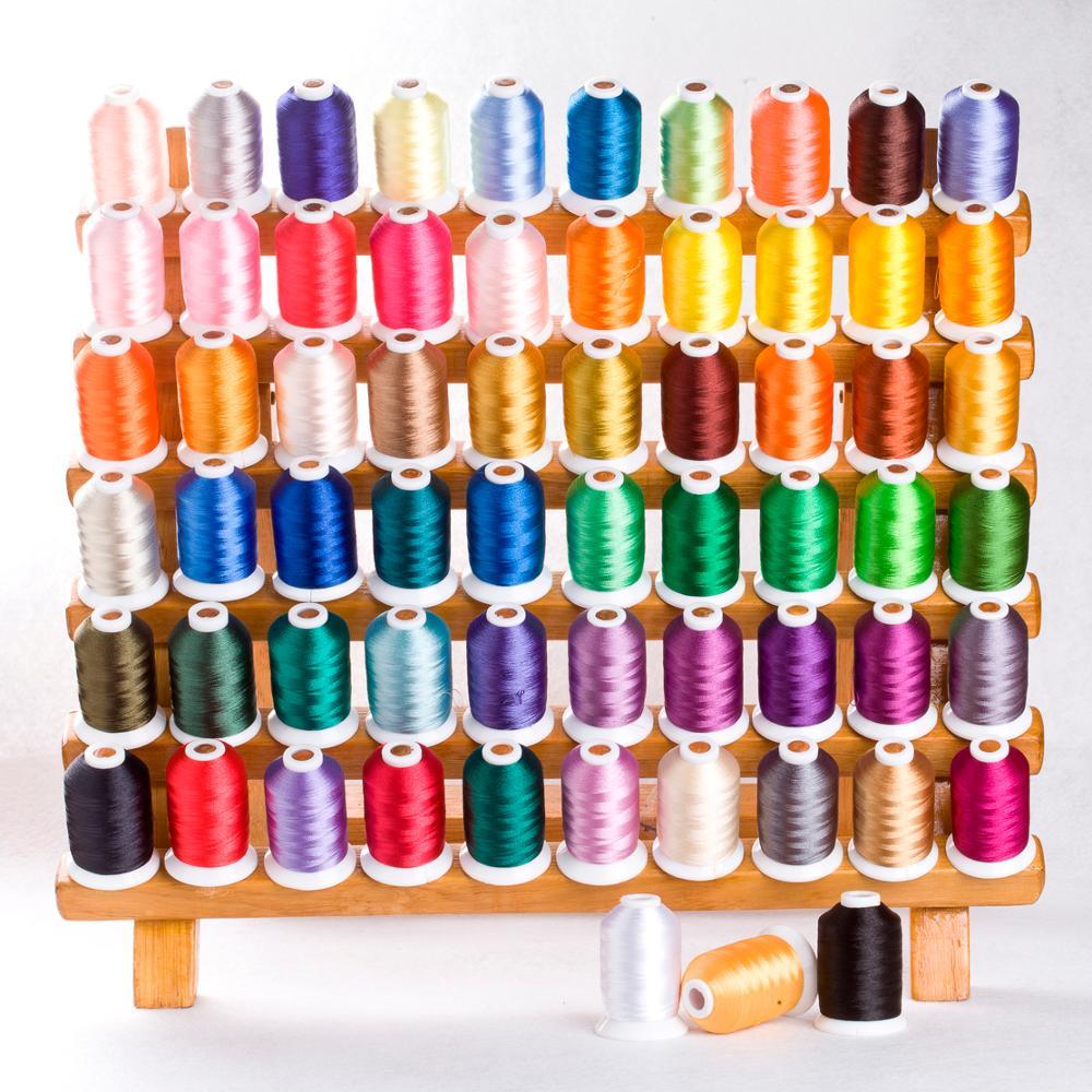 60 Brother Colors Series Trilobal poliéster máquina bordado hilo filamento Ideal para la mayoría de la máquina 1000 m * 60 colores surtidos-in Hilo from Hogar y Mascotas    2