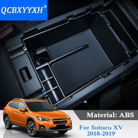 QCBXYYXH For Subaru XV Impreza 2018 2019 Car Styling Car Center Console Armrest Storage Box Covers Interior Accessories