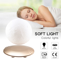 15CM 3D Magnetic Floating Moon Lamp Lights Rotatable Levitating Night Lamp Lights Table Night Moonlight Creative