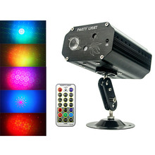 AC100-240V Colorful Led stage lamp Laser projector light Sound activated Indoor Holiday decoration for Birthday,Wedding,Party