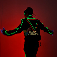 LED Clothing Luminous Costume Illuminated Light EL Costumes LED Suits Glowing Clothes For Men's Ballroom Clothes Accessories