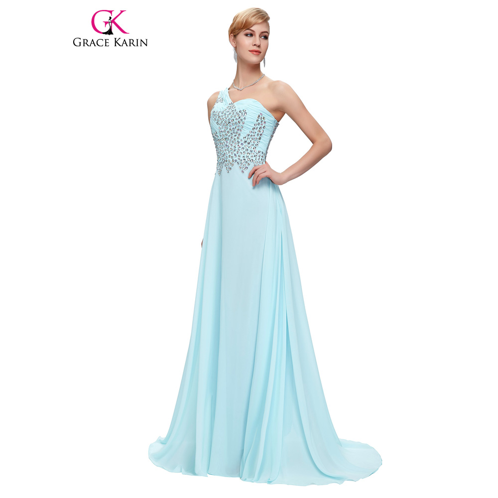 Online buy wholesale light pink bridesmaid dress from china light grace karin long bridesmaid dresses light blue navy blue pink green one shoulder prom gown beaded ombrellifo Image collections