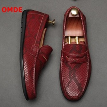 цены OMDE New British Style Genuine Leather Loafers Men mocassin homme Casual Shoes Luxury Summer Driving Shoes Mens Dress Shoes