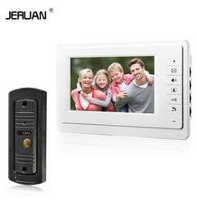 JERUAN 7 »vidéo interphone vidéo interphone haut-parleur interphone système blanc moniteur en plein air avec étanche et IR caméra