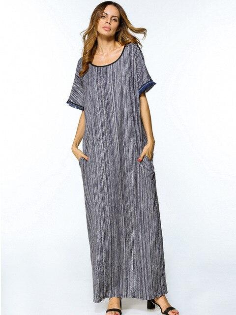 781c7e2d39 Middle East Abaya Casual Muslim Maxi Dress Loose Style Long Robe Kimono  Cotton Summer Moroccan Burka Kaftan Hijab Islamic Arab