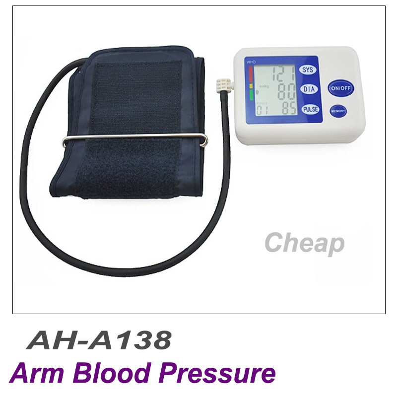 Portable Digital New Cheap Arm Type Voice Blood Pressure Monitor AH-A138 Healthcare Diagnostic-tool Blood Pressure Meter AH-A138