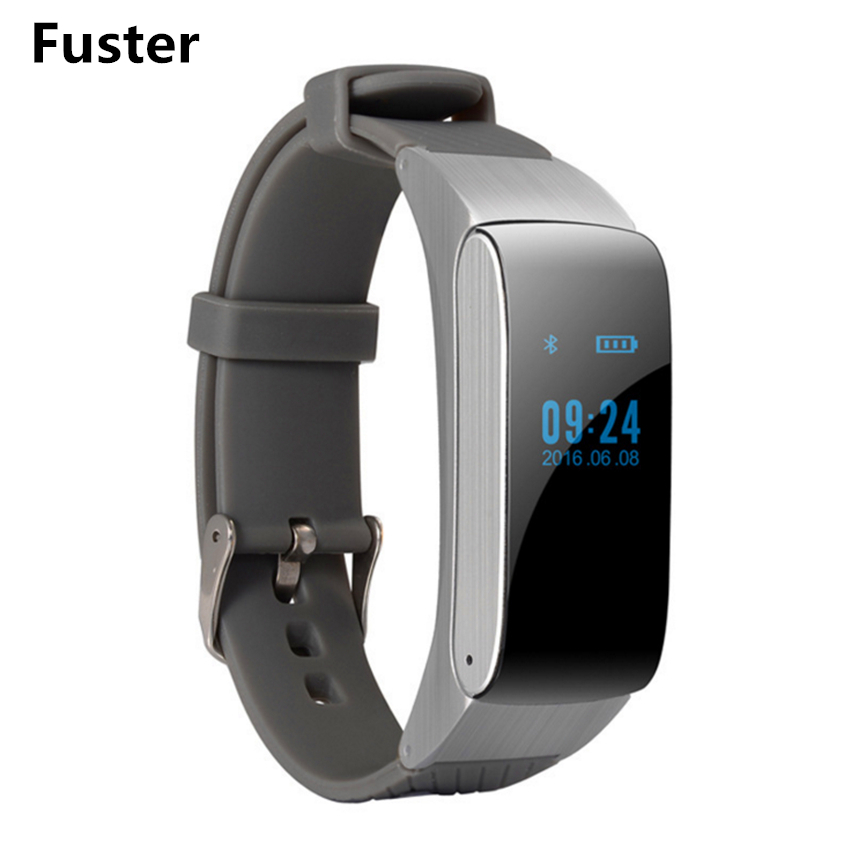 Fuster DF22 Bluetooth Smart Bracelet with Headset and MIC Smart Band as Music Device Waterproof Talkband