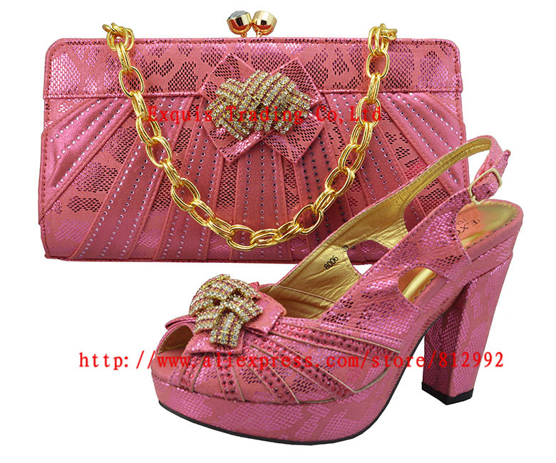 ФОТО Hot selling specialty Italy matching shoes and bag with shine stone.wedding shoes wiht bag for retail and wholesale GF8006