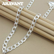 925 Jewelry Sideways Necklaces For Women Men Fashion Silver Plated Gifts