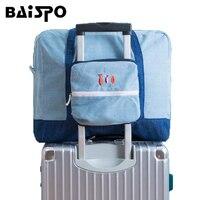 BAISPO Seyahat Denim Saklama Çantası Taşınabilir Büyük kapasiteli Erkek/Kadın Çanta Bagaj Organizatör Bavul Koymak
