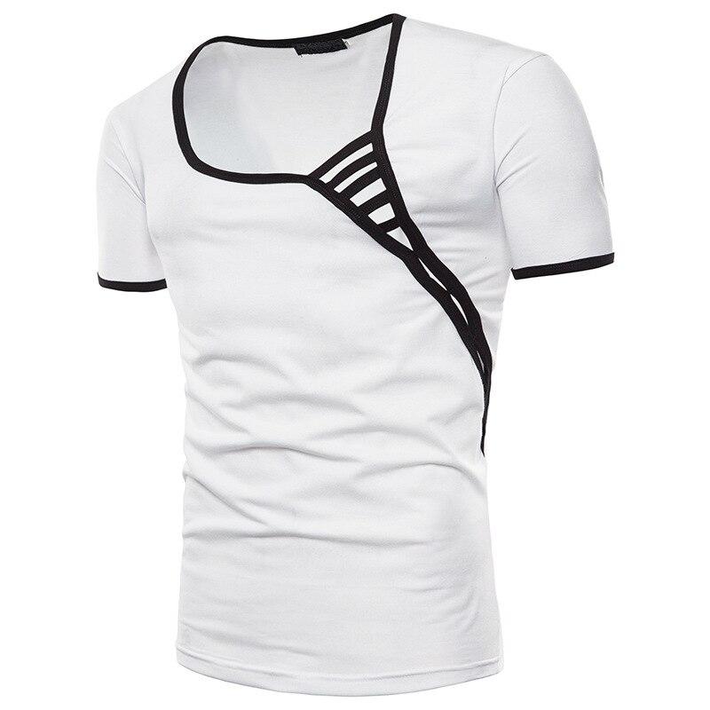 Summer Men's Irregular Casual Short Sleeve male tShirt Tops fashion tshirts mens clothing shirt brand