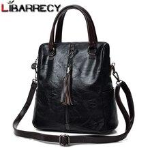 Moda püskül kadın sırt çantası çok fonksiyonlu sırt çantaları kadınlar için büyük kapasiteli okul çantası kızlar için deri sırt çantası kadın