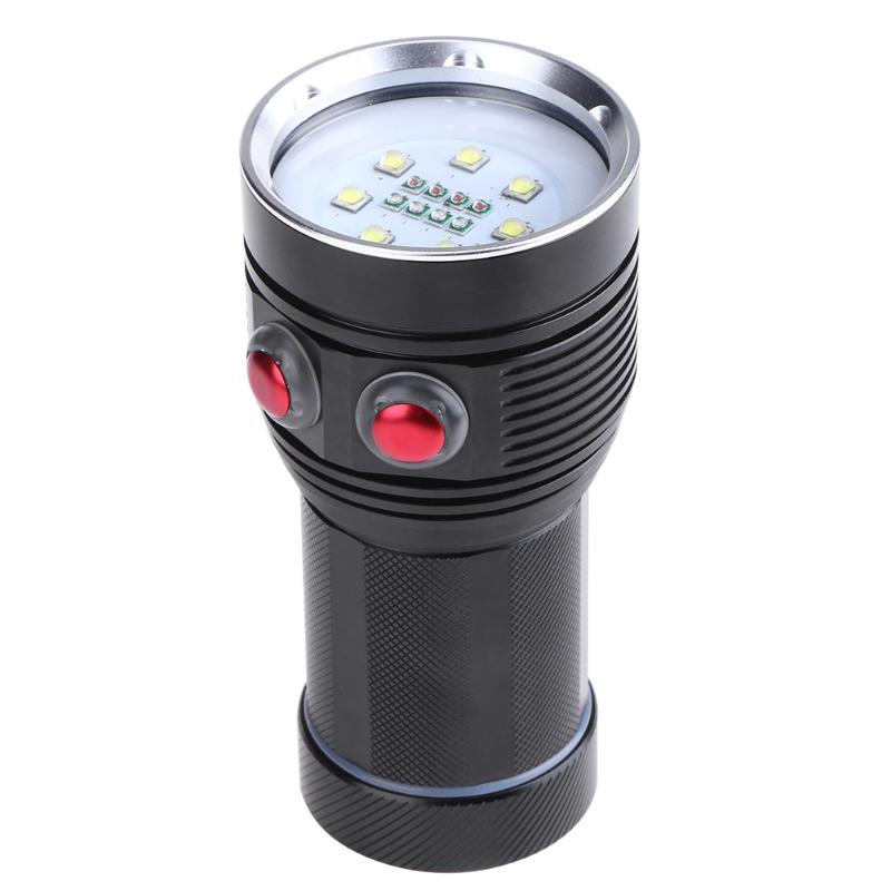 20000 LM LED Scuba Diving Photo Flashlight Torch Waterproof Light Torch 15LED Dive Underwater Photography Video Fill Light Lamp portable waterproof diving led flashlight photography underwater video torch light