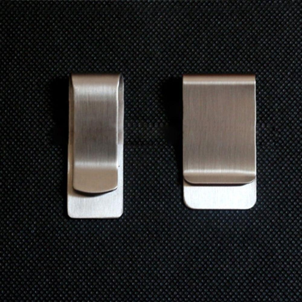 Срібні EDC Нержавіюча сталь гроші кліп людина металеві готівкою ID кредитної картки затиску власника за гроші гаманець відкритий кемпінг обладнання