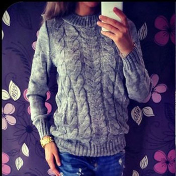 Soft O-Neck Long Sleeved Knitted Sweater 3