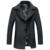Alta Calidad Nuevo Estilo de moda juvenil Cómodo Primavera Collar Del Mandarín Abrigo de Lana Delgado Abrigo de Lana de Cachemira Prendas de Vestir Exteriores de Los Hombres