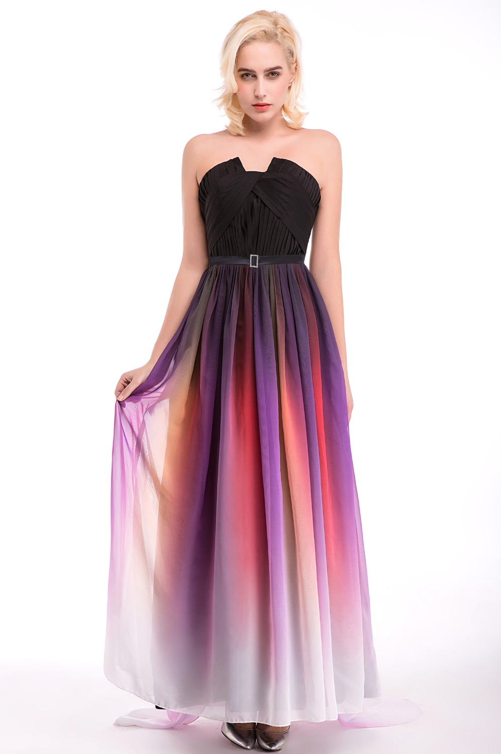 In Stock 100 Real Pic Long Multi Color Bridesmaid Dresses