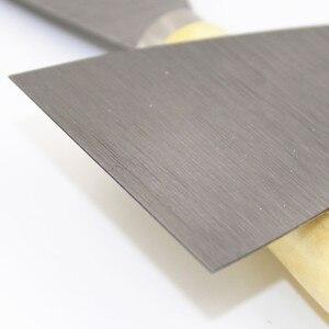 1 шт., шпатель из нержавеющей стали, скребок, украшение для краски, лезвие из массива дерева, 2,5 180 мм, шпатель, ручка, шпатель, нож