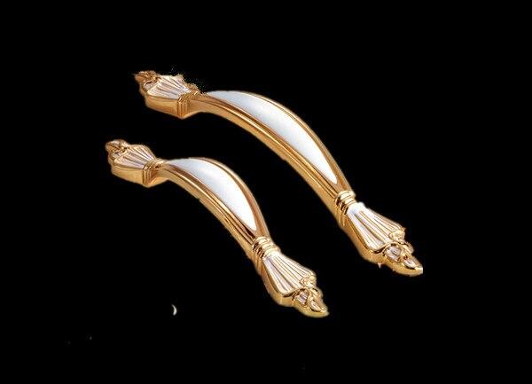 10Pcs European Handle Lovry White Zinc Alloy Drawer Cabinet Pull Wardrobe Knob