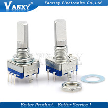 5PCS Half axis rotary encoder,handle length 20mm code switch/ EC11 / digital potentiometer with switch 5Pin