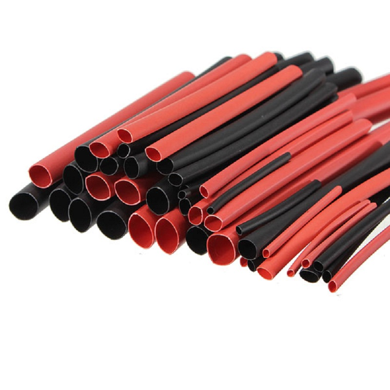 1M Red +1M Black Heat Shrink Tubing 2mm 3mm 4mm Shrinkage 5mm 6mm 7mm 16mm 20mm Silicon Wire Heated Tube Shrinkable RC Parts DIY image