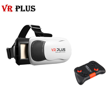 3D VR BOX Pro 3.0 VR PLUS III Leather Version with Real Coating Glass Lens 3D Glasses Headset Virtual Reality Goggle Cardboard