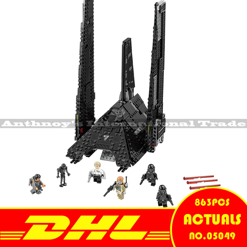 ZXS Lepin 05049 Rogue One Star Wars Krennic's Imperial Shuttle Model Building figures Blocks Bricks Toy Gift ship by DHL lepin 22001 pirate ship imperial warships model building block briks toys gift 1717pcs compatible legoed 10210