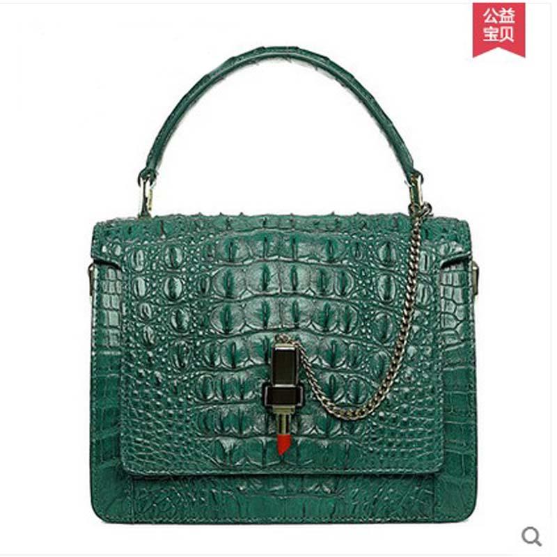 2018 hlt new crocodile leather single shoulder women bag new style women handbag women chain bag girl bags dadi1 dadi hlt 102