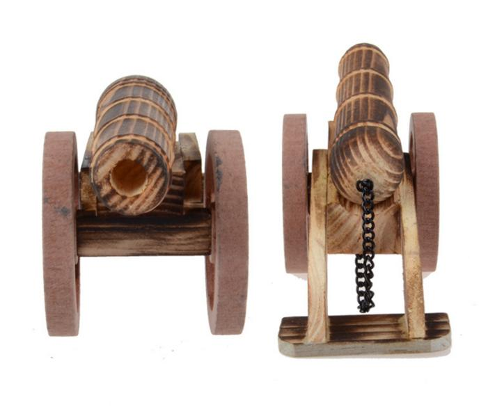 Wooden Toys For Boys : Children wooden big gun cannons for outdoor toys kids