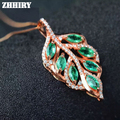 Natural Emerald Gem Pendant Necklace Genuine Stone 925 Sterling Silver Women Fine Stones Jewelry