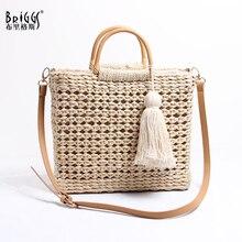 BRIGGS Straw bag high quality designer fashion crossbody shoulder women summer 2019 beach casual tote ladies messenger bags
