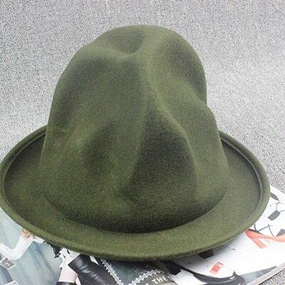 Фирменная Новая модная женская и мужская шерстяная фетровая горная шляпа Фарелл Вильямс Вествуд Стиль Знаменитостей Новинка шляпа в стиле Буффало - Цвет: Green