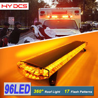 127cm 96W 96 LED Work Warning Lights Emergency Recovery Beacon Wrecker Flashing Strobe Light Bar For Truck Car Amber 12V/24V