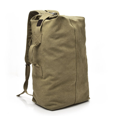 Fashion Large-capacity Travel Backpack Outdoor Travel Sports Bag Men's Canvas Bag Solid colorLuggage Organizer G 3