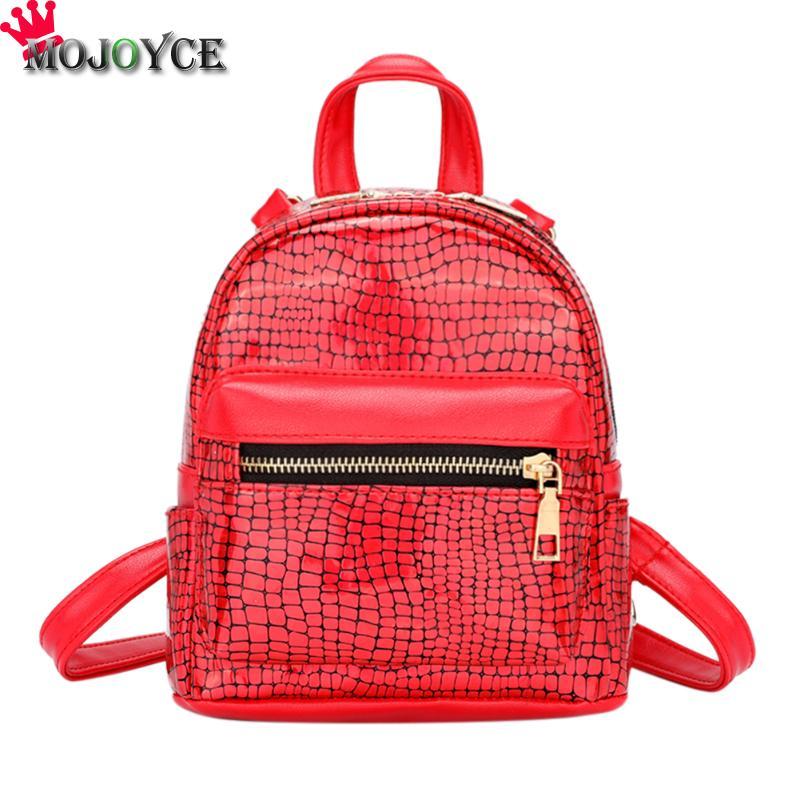 339e548991db Блестящие женские PU кожаный камень узор рюкзаки для девочек великолепный  плечевой мини Повседневный мешок. Особенности: Модный вариант типа:  лаконичный, ...