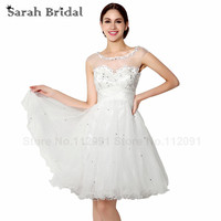 2017 Cut out Back High School Graduation Dresses Short Summer Homecoming Prom Gowns Beading Sheer Tulle Neck Vestidos Formatura