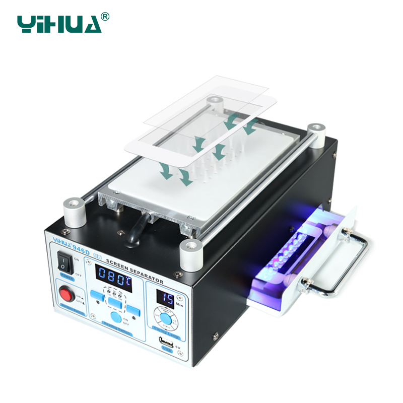 YIHUA 946D-III Separator To Repair Split Separate Glass Touch Screen Machine  LCD Touch Screen Glass Separator Machine free shipping screen repair machine kit ly 946d lcd separator for 5 inch mobile screen 12 in 1 separate machine