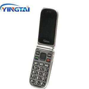 Image 4 - Yingtai T09 Best Caratteristica Del Telefono Gsm Grande Push Button Flip Telefono Cellulare Dual Screen a Conchiglia 2.4 Pollici Anziano Telefono Cellulare telefoni Fm MP3