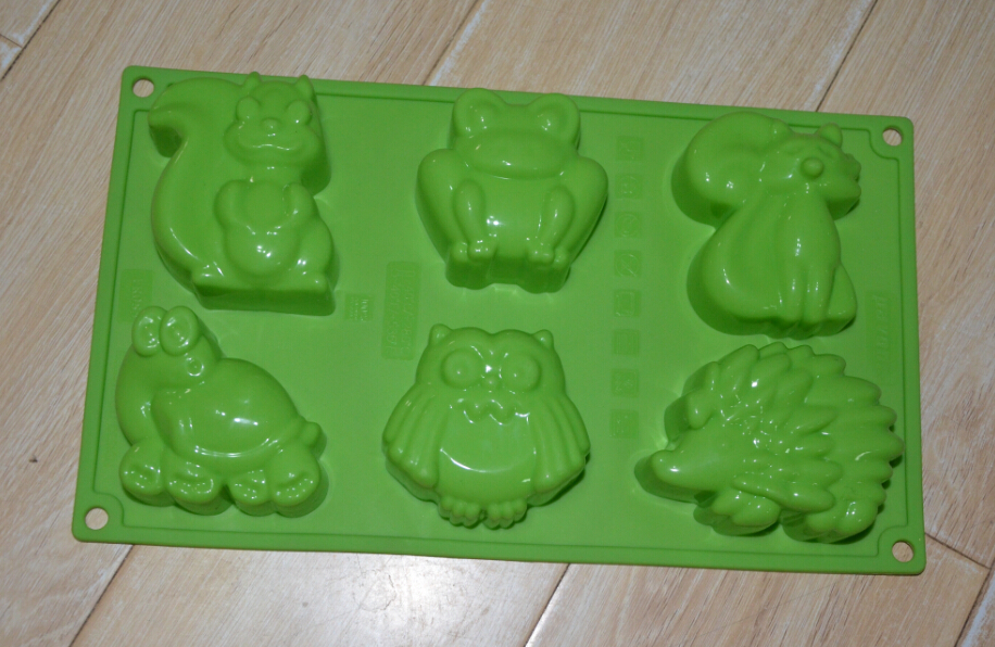 Silicone Animal Cake Chocolate Soap Pudding Jelly Candy Ice Cookie Biscuit Mold Mould Pan Bakeware