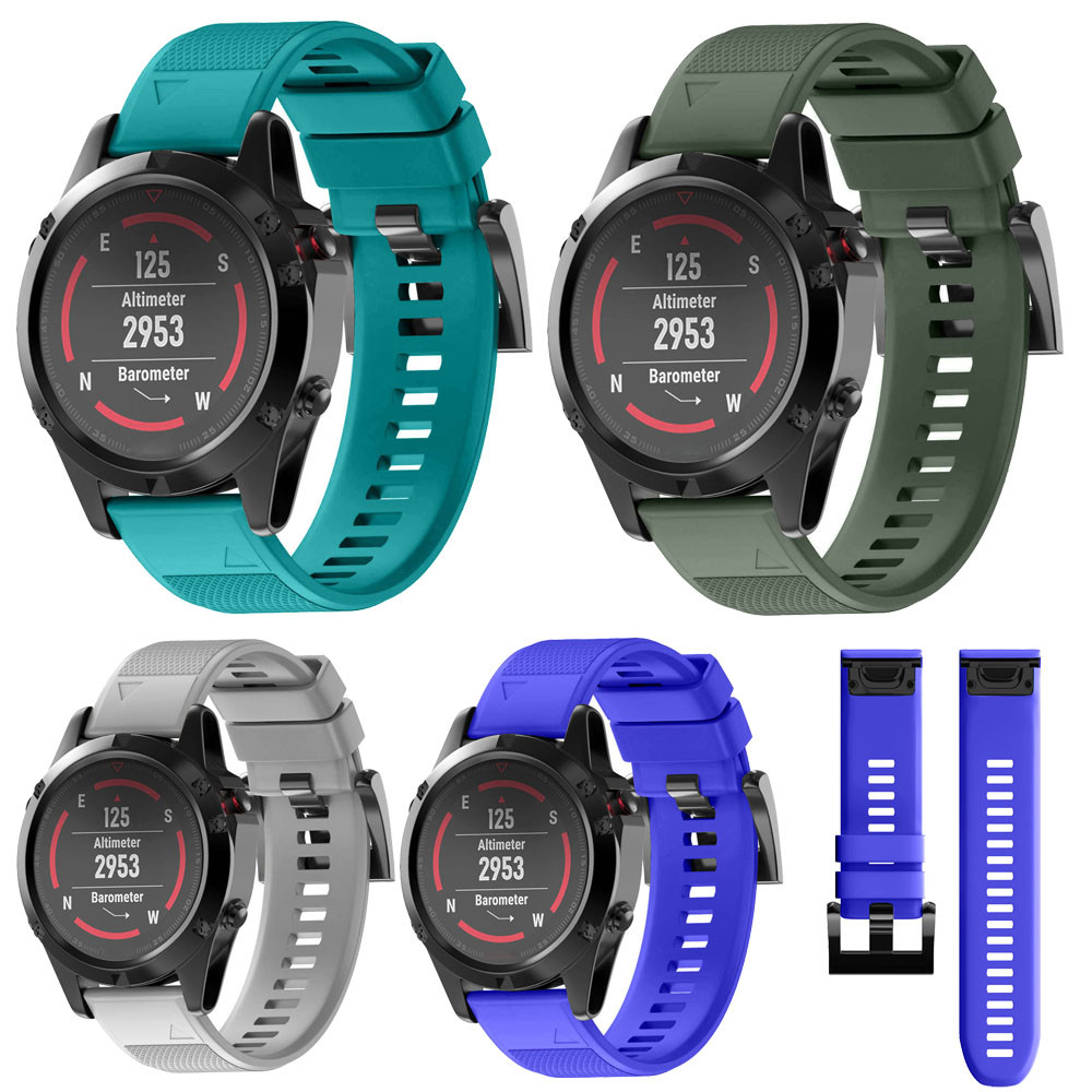 Susenstone 2019 Watchband Luxury Watch Strap Silicone  For Garmin Fenix 5 Gps Watch Saat Kordonu Silikon Correa Reloj Hot Sale new garmin watch 2019