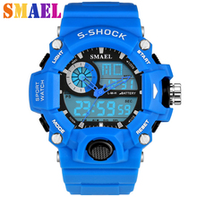 2016 Hot Men Silicone Sport Watch G style S Shock 50M Waterproof Mens LED Sports Watches Relogio Masculino Electronic Wristwatch